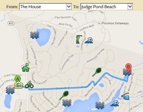 Directions To Lake Naomi Judge's Pond Beach