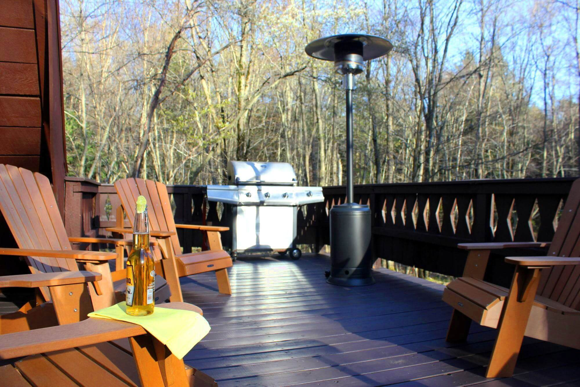 A Poconos Rental With A Great Deck, Hot Tub And Game Room - A Gigantic Second Floor Deck