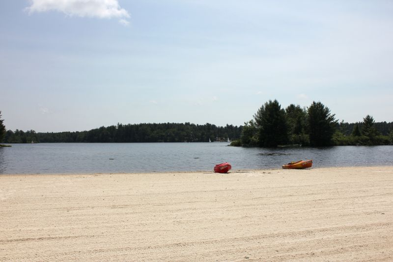 Lake Naomi's North Beach In The Summer