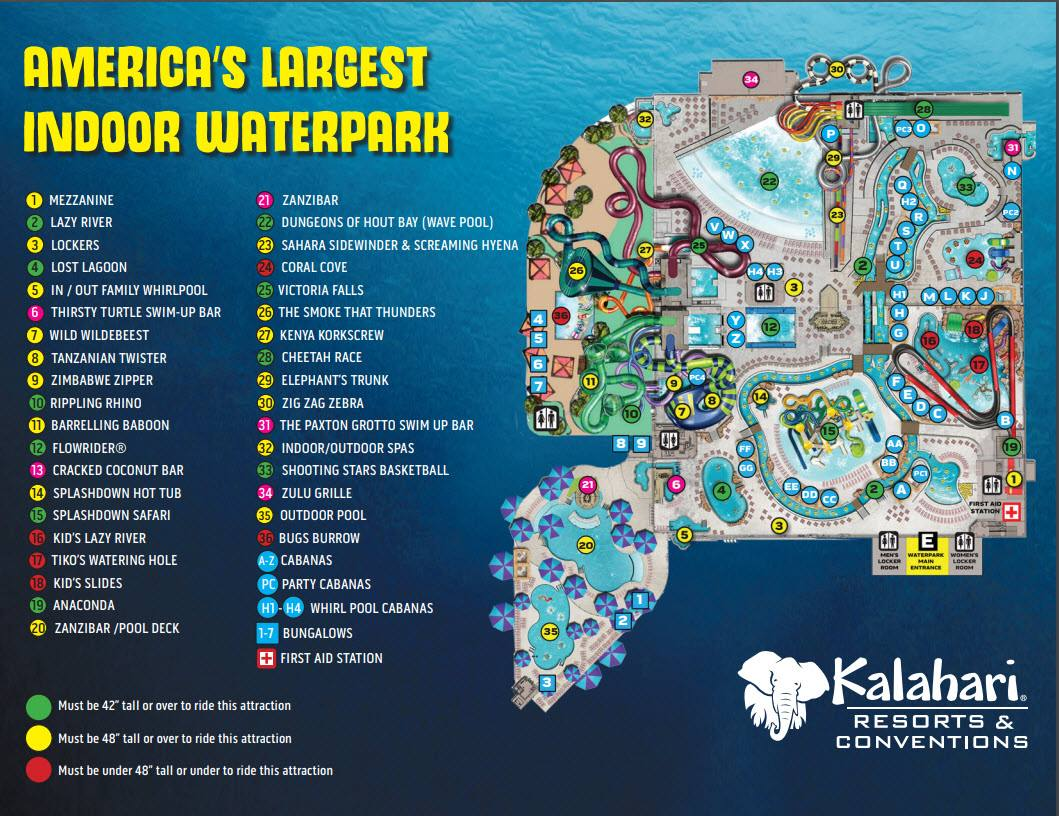 Kalahari Map Poconos - This is the latest Poconos Kalahari Resort Water Park Map - Kalahari Resort PA Is Americas Largest Indoor Waterpark
